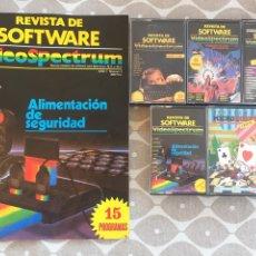 Videojuegos y Consolas: REVISTA VIDEOSPECTRUM AÑO I NUM2. MÁS 4 JUEGOS SPECTRUM 48K ORIGINALES DE LA REVISTA Y UNO EXTRA.. Lote 172904304