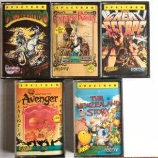 Videojuegos y Consolas: SPECTRUM- THE NEWZEALAND STORY - DESPERADO - EXPRESS RAIDER - THE GREAT ESCAPE - AVENGER. Lote 173105977