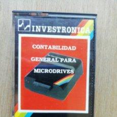 Videojuegos y Consolas: SPECTRUM CONTABILIDAD GENERAL INVESTRONICA. Lote 174227649