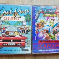 Videojuegos y Consolas: SPECTRUM OUT RUN Y BIONIC COMMANDO. Lote 174230437