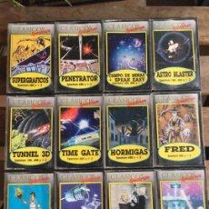 Videojuegos y Consolas: LOTE 12 JUEGOS SPECTRUM MICROBYTE. FRED. HORMIGAS, XADOM, TIME GATE, ASTRO BLASTER.. Lote 178390430