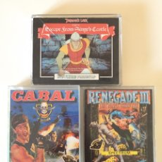 Videojuegos y Consolas: SPECTRUM - RENEGADE III - CABAL - DRAGONS LAIR PART II ESCAPE FROM SINGES CASTLE. Lote 178594997
