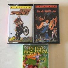 Videojuegos y Consolas: SPECTRUM- PETER SHILTONS - SUPER SCRAMBLE - YIE AR KUNG FU. Lote 178596032