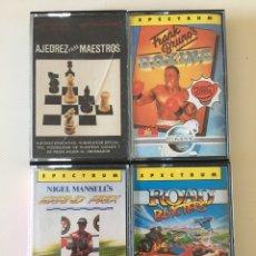Videojuegos y Consolas: SPECTRUM- GRAND PRIX - ROAD BLASTERS - AJEDREZ PARA MAESTROS - FRANK BRUNO'S. Lote 178690725
