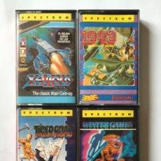 Videojuegos y Consolas: SPECTRUM- WINTER GAMES - TIGERROAD - 1943 - XEVIOUS - LOTE 4 VIDEOJUEGOS ERBE AÑOS 80. Lote 180165298