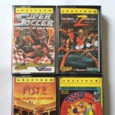 Videojuegos y Consolas: SPECTRUM- SUPPER SOCCER - 720 - FIST II - GRYZOR - LOTE 4 VIDEOJUEGOS ERBE AÑOS 80. Lote 180166055