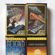 Videojuegos y Consolas: SPECTRUM- OVERLANDER - BEYOND THE ICE PALACE - ZIP ZAP - STONKERS - LOTE 4 VIDEOJUEGOS AÑOS 80. Lote 180166983