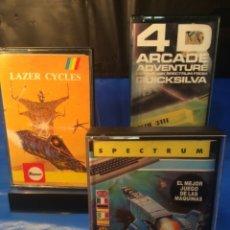 Videojuegos y Consolas: 3 !!!! CINTAS SPECTRUM JUEGOS ¡¡ XERVIOUS - 4 D ARCADE - LACER CICLES ¡¡ (VER FOTOS). Lote 181504475