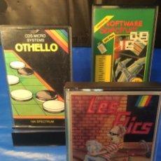 Videojuegos y Consolas: 3 !!!! CINTAS SPECTRUM ¡¡ LES FLICS - OTHELLO - SOFTWARE Nº 2 - ¡¡ (VER FOTOS). Lote 181511107