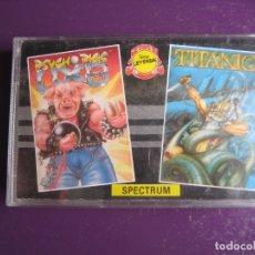 Videojuegos y Consolas: PSYCHO PIGS + TITANIC - CASETE SPECTRUM 80'S - PRECINTADA - . Lote 182822116