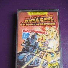Videojuegos y Consolas: NUCLEAR COUNTDOWN CASETE SPECTRUM 48 128K - PRECINTADA - ATLANTIS - VIDEOJUEGO 80'S . Lote 182822791