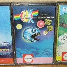 Videojuegos y Consolas: LOTE 3 JUEGOS SPECTRUM, 48K, MONSER, GOLF, COMECOCOS, REGATA. Lote 183733430