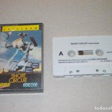 Videojogos e Consolas: JUEGO SPECTRUM. SHORT CIRCUIT ( CORTOCIRCUITO). OCEAN / ERBE. LOMO ROSA. Lote 186337033