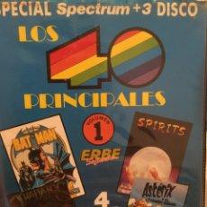 Videojuegos y Consolas: ESPECIAL SPECTRUM +3 DISCO LOS 40 PRINCIPALES. Lote 192395522