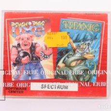 Videojuegos y Consolas: VIDEOJUEGO PRECINTADO PARA CONSOLA SPECTRUM - PSYCHO PIGS UXB / TITANIC - TEXTO CATALÁN - ERBE 1989. Lote 207790860
