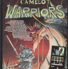 Videojuegos y Consolas: CAMELOT WARRIORS DE ALFONSO AZPIRI CARTEL PROMOCIONAL A4 DE VÍDEO-JUEGO SPECTRUM DINAMIC. Lote 194126865