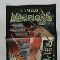 Videojuegos y Consolas: CAMELOT WARRIORS DE ALFONSO AZPIRI CARTEL PROMOCIONAL A3 DE VÍDEO-JUEGO SPECTRUM DINAMIC. Lote 194126882