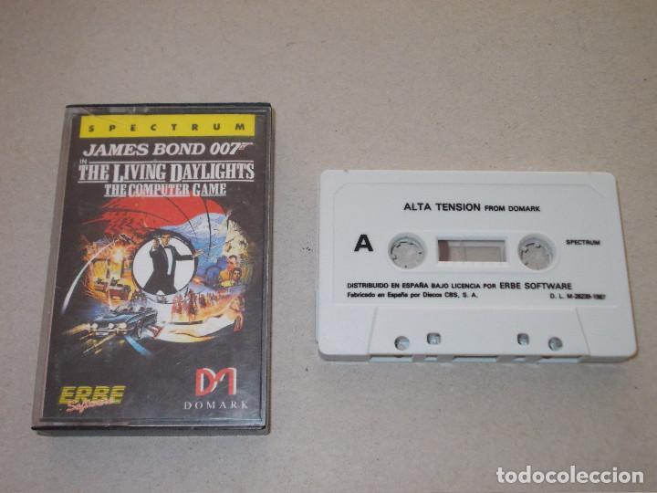 JUEGO SPECTRUM. THE LIVING DAYLIGHTS 007( ALTA TENSION). DOMARK / ERBE LOMO ROSA (Juguetes - Videojuegos y Consolas - Spectrum)