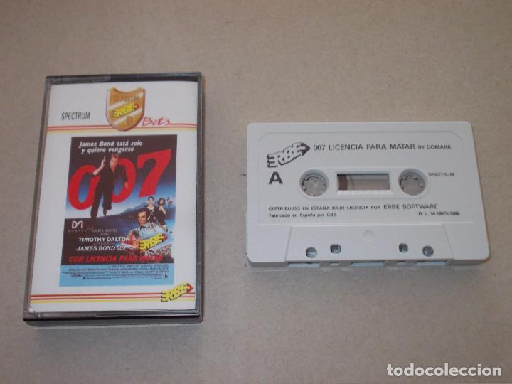 JUEGO SPECTRUM. 007 CON LICENCIA PARA MATAR. DOMARK / ERBE / MUSICAL 1 (Juguetes - Videojuegos y Consolas - Spectrum)