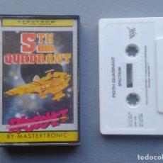 Videojuegos y Consolas: SINCLAIR ZX SPECTRUM 5TH FIGHT QUADRANT COMPLETO EN CAJA CIB 48K 128K R10021. Lote 194773432
