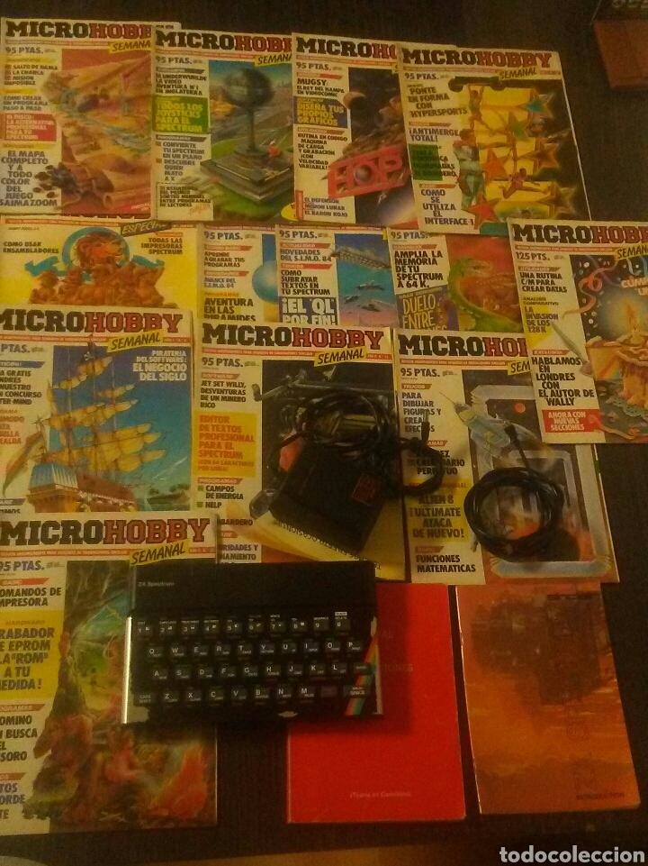 SINCLAIR SPECTRUM 48K COMPLETO Y FUNCIONANDO INSTRUCCIONES Y 13 REVISTAS MICROHOBBY VER IMAGENES (Juguetes - Videojuegos y Consolas - Spectrum)