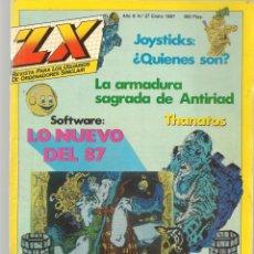Jeux Vidéo et Consoles: ZX REVISTA PARA LOS USUARIOS DE ORDENADORES SINCLAIR. Nº 37. ENERO 1987. (Z/28). Lote 195890315