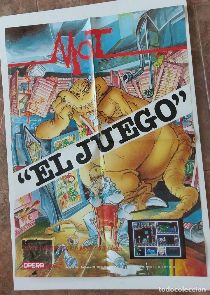 POSTER SPECTRUM-AMSTRAD-MSX ÓPERA SOFT AÑOS 80 JUEGO: MOT EL JUEGO DE ALFONSO AZPIRI (Juguetes - Videojuegos y Consolas - Spectrum)