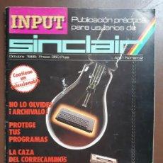 Videojuegos y Consolas: INPUT SINCLAIR Nº2. Lote 142258918
