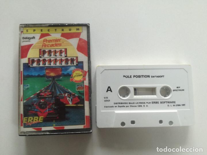 POLE POSITION - JUEGO SPECTRUM CASETE ERBRE 1985 // SINCLAIR CASSETTE (Juguetes - Videojuegos y Consolas - Spectrum)