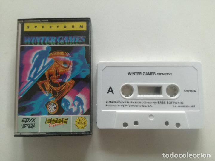 WINTER GAMES - JUEGO SPECTRUM CASETE ERBRE 1987 // SINCLAIR CASSETTE (Juguetes - Videojuegos y Consolas - Spectrum)