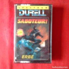 Videojuegos y Consolas: SABOTEUR! DURELL ERBE SPECTRUM 1985 CASETE. Lote 201259955