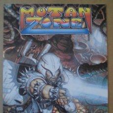 Videojuegos y Consolas: MUTAN ZONE CARTEL ADHESIVO PROMOCIONAL ÖPERA SOFT ORIGINAL AÑOS 80 SPECTRUM-AMSTRAD-MSX. Lote 202892353