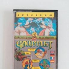 Videojogos e Consolas: CASETE JUEGO SPECTRUM GAUNTLET FROM ATARI GAMES - ERBE - AÑO 1976. Lote 204097762