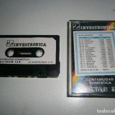 Videojuegos y Consolas: JUEGO DE SPECTRUM - CONTABILIDAD DOMESTICA - CAJA PEQUEÑA - INVESTRONICA. Lote 206179016