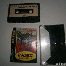 Videojuegos y Consolas: JUEGO DE SPECTRUM - PANIC - CAJA PEQUEÑA - MICROBYTE. Lote 206179222