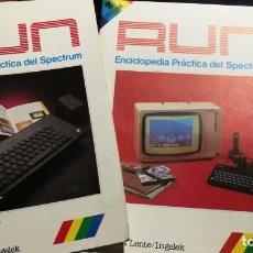 Videojuegos y Consolas: 2 REVISTAS RUN ENCICLOPEDIA PRACTICA DEL SPECTRUM Nº 1 Y 2. Lote 206185797