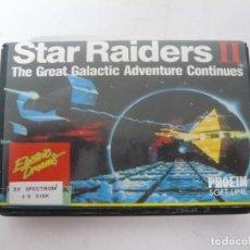 Videojuegos y Consolas: STAR RAIDERS II / ESTUCHE / SINCLAIR ZX SPECTRUM +3 / RETRO VINTAGE / DISCO - DISKETTE. Lote 208383148