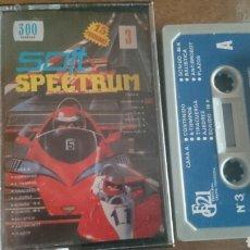Videojuegos y Consolas: SOFT SPECTRUM 3, CON 15 PROGRAMAS, JUEGO CASETE SPECTRUM. Lote 208770150