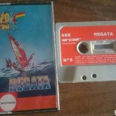 Videojuegos y Consolas: REGATA, MONSER JUEGO CASETE SPECTRUM. Lote 208772010