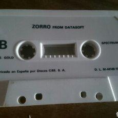 Videojuegos y Consolas: ZORRO, DATASOFT, JUEGO CASETE SPECTRUM. Lote 208777130