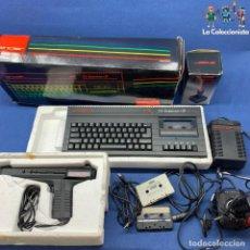 Videojuegos y Consolas: CONSOLA SINCLAIR ZX SPECTRUM +2 + JOYSTICK SJS2 + PISTOLA ACTION PACK + CARGADOR + MANUAL + CAJA. Lote 209094445