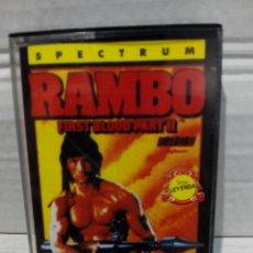 Videojuegos y Consolas: RAMBO FIRST BLOOD PARTE 2 ERBE SPECTRUM. Lote 212032781