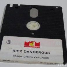 Videojogos e Consolas: SPECTRUM +3 DISC - RICK DANGEROUS MCM SINCLAIR. Lote 212948433