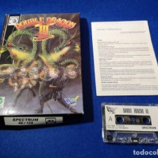Jeux Vidéo et Consoles: JUEGO CASSETE SPECTRUM DOUBLE DRAGÓN III THE ROSETTA STONE 128K. Lote 213624018