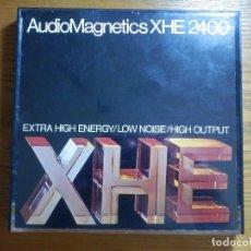 Videojuegos y Consolas: AUDIO MAGNETICS RECORDING TAPE - CINTA - BOBINA MAGNETOFÓN 7 IN REEL TO - XHE 2400 - GRABADA. Lote 213673551