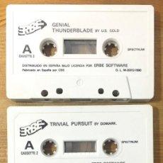 Videojuegos y Consolas: SPECTRUM PACK 4 JUEGOS - TRIVIAL PURSUIT, RED HEAT, (2) THUNDERBLADE & FASES THUNDERBLADE. Lote 268766114