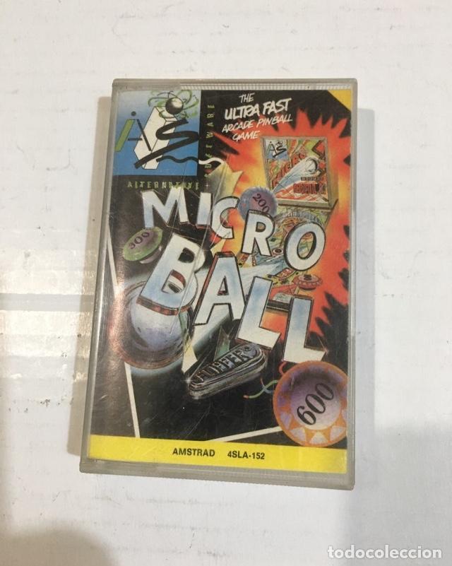 Videojuegos y Consolas: Cassette Amstrad Micro Ball Pinball Sinclair Spectrum - Foto 2 - 216920287