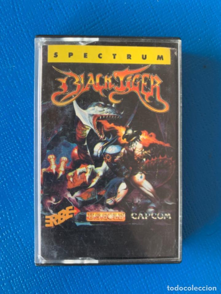 JUEGO DE LA SPECTRUM. SIN PROBAR. BLACK TIGER (Juguetes - Videojuegos y Consolas - Spectrum)