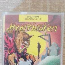 Videojuegos y Consolas: HEARTBROKEN-SPECTRUM CASSETTE-ATLANTIS-AÑO 1989.MUY DIFÍCIL.. Lote 218900806