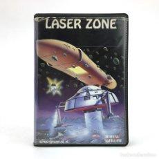 Videojuegos y Consolas: LASER ZONE ESTUCHE CENTURY SOFTWARE JEFF MINTER. QUICKSILVA SPECTRUM CASSETTE RETRO INFORMATICA RARO. Lote 219031340